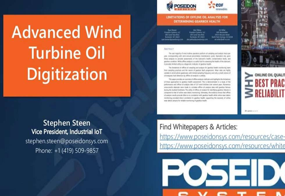 Advanced Wind Turbine Oil Digitization